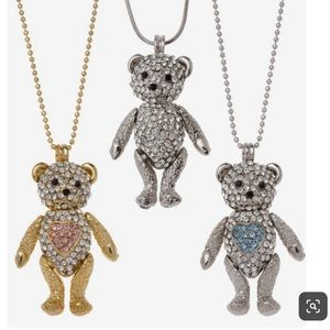 Jewelry - Soho Hearts Bear with Me Necklace, Blue Heart